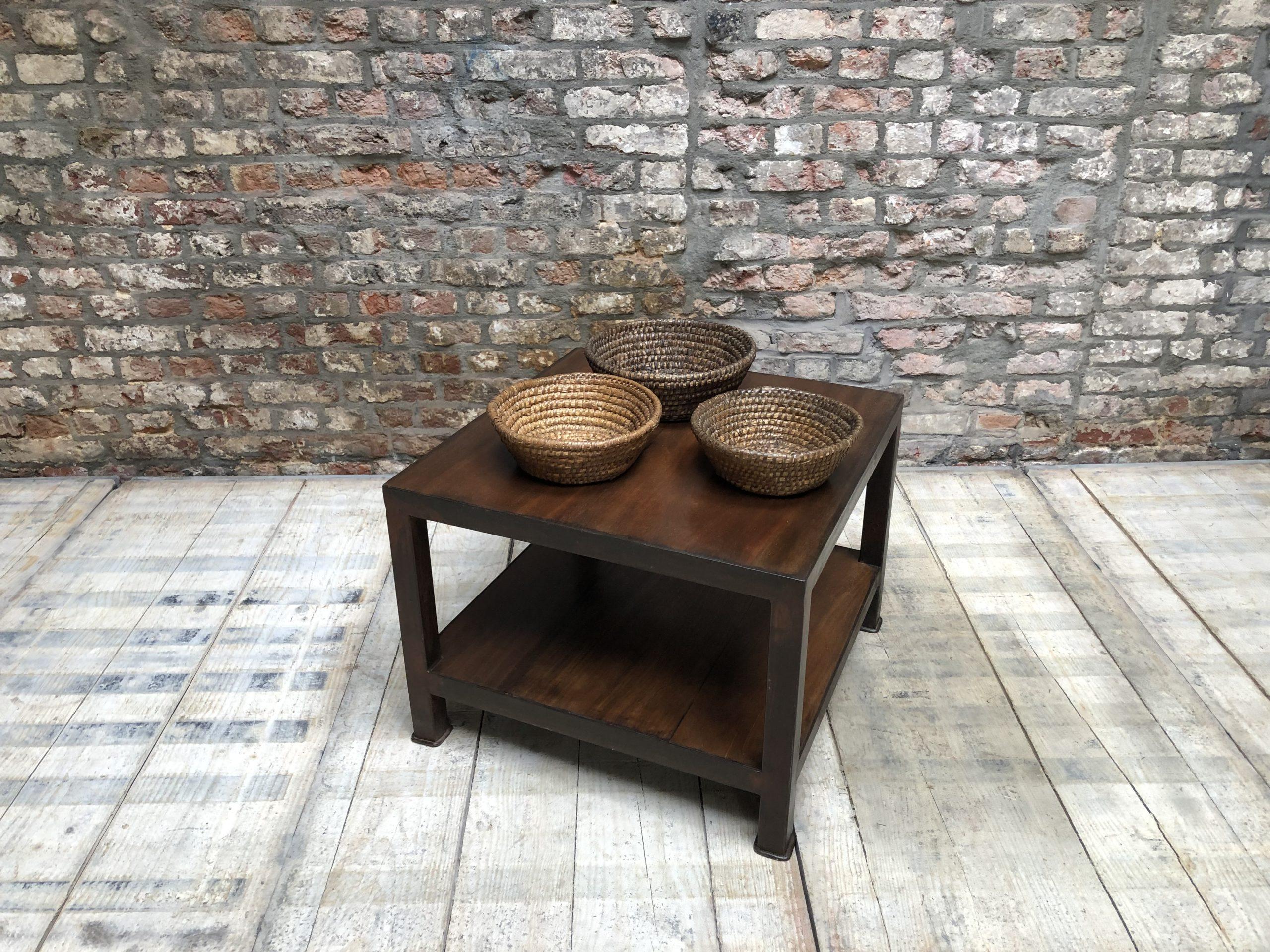 table basse vieux teck