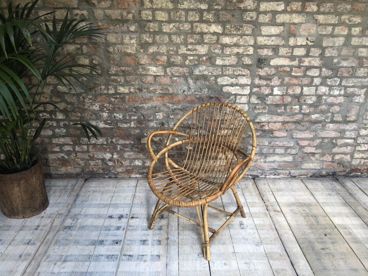fauteuil en osier accoudoirs omachido. Black Bedroom Furniture Sets. Home Design Ideas
