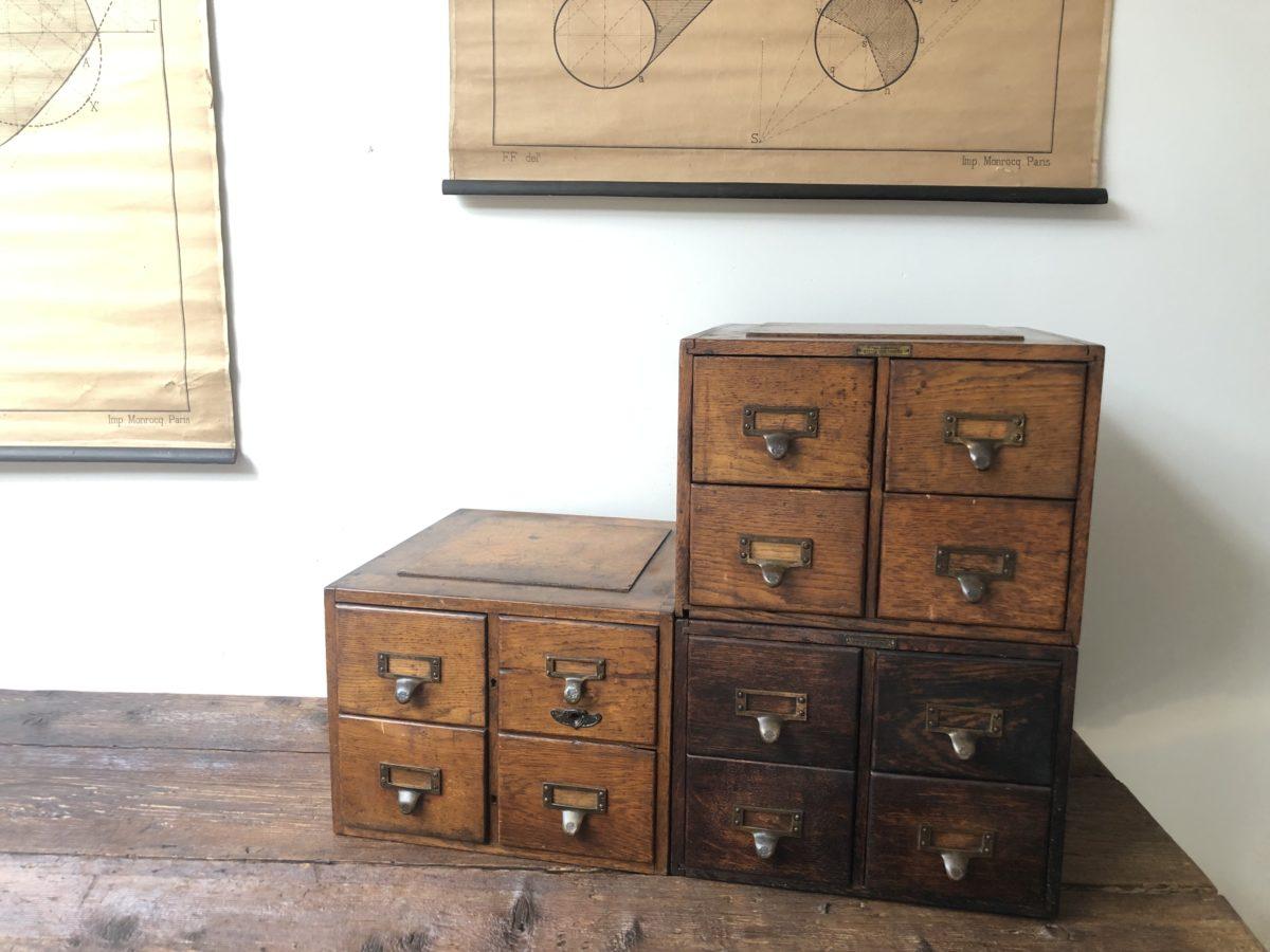 Petit Etabli Bois Ancien petits meubles à tiroirs - omachido