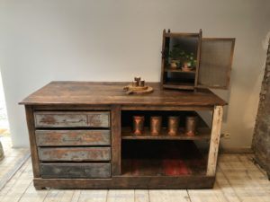 meuble d'atelier, ilôt central cuisine