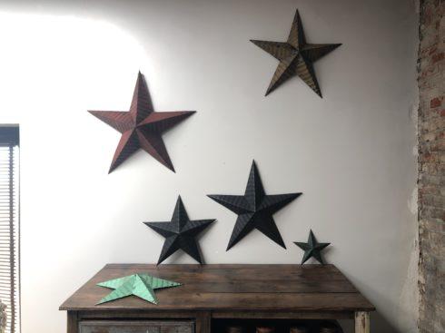 étoiles vintage-décoration murale- étoiles Amish