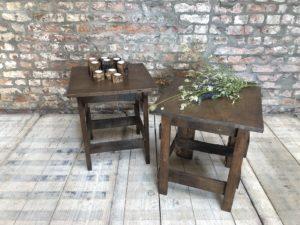 table d'appoint, table de chevet style Wabi-sabi