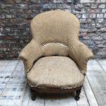 ancien fauteuil crapaud