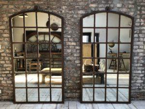 miroir industriel style fenêtre d'usine