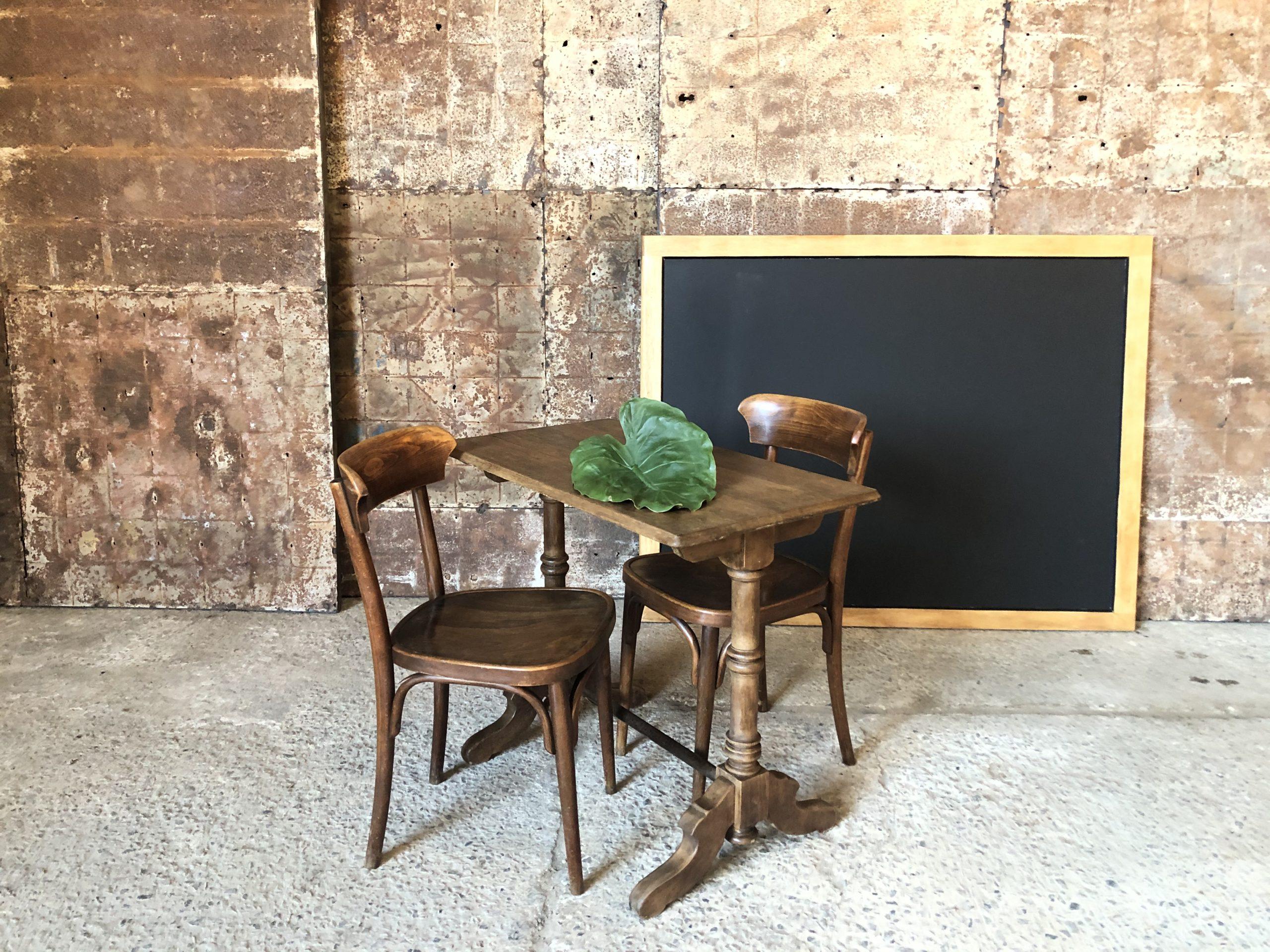 table bistrot en bois