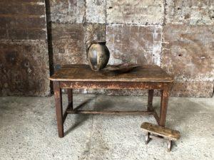 table Wabi-sabi - ancienne table en bois patinée