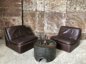 table basse industrielle cuve