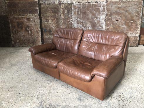 Canapé2 places en cuir De Sede DS66