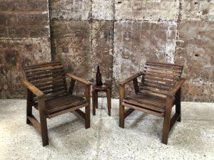 chaises- fauteuils d'extérieur en bois
