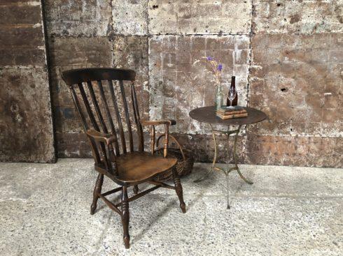 fauteuil anglais en bois