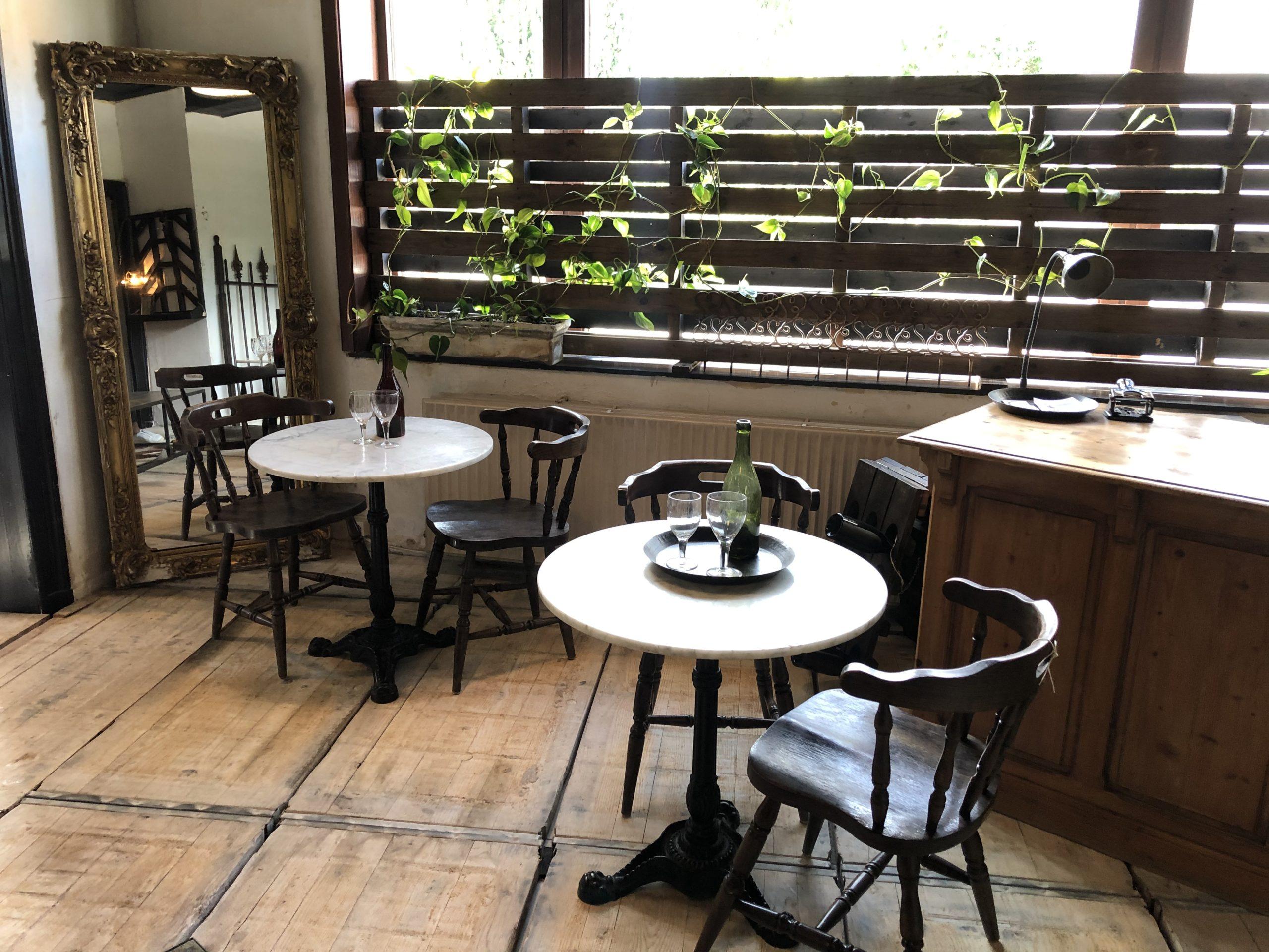 round bistro tables
