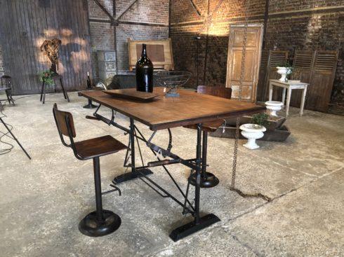 table mange debout industrielle