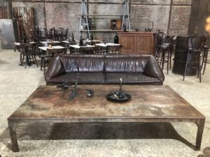 table basse cuve industrielle