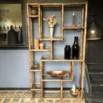 etagere vintage en bambou