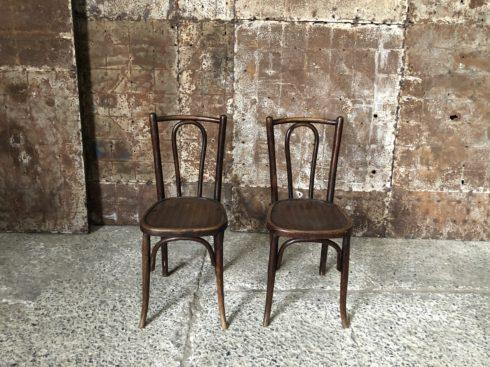 Paire de chaise bistrot