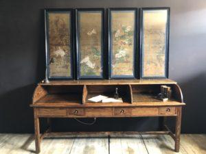 peintures sur soie japonaises antiquités