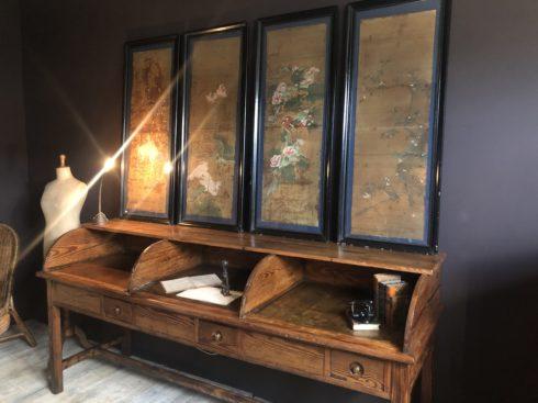 ancien bureau poste bois Pichepin meuble de métier meuble atypique