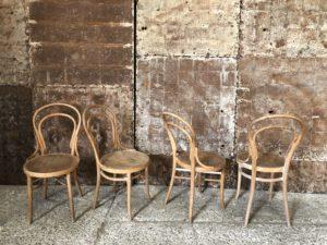 Chaises bistrot stYle Thonet en bois clair