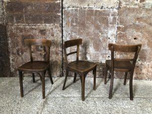 anciennes chaises bistrots style Baumann