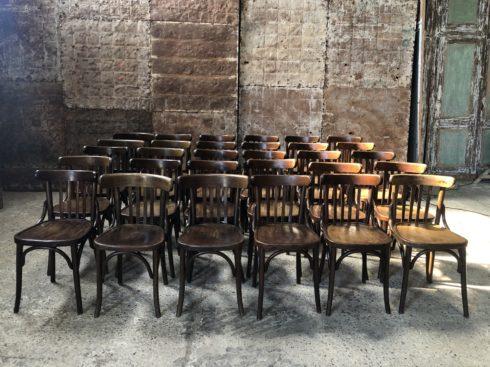 Lot de 36 chaises bistrot