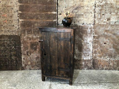 Ancien meuble d'atelier en bois - armoire vintage 1 porte