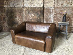 canapé vintage en cuir 2 places De Sede DS47