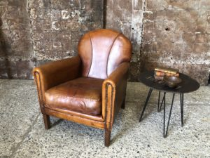 sheepskin club chair