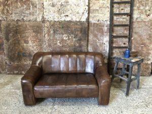 Canapé vintage en cuir De Sede DS44 2 places