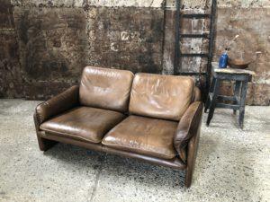 De Sede DS61 canapé cuir vintage cognac 2 places