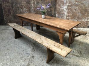 table et bancs rustique