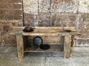 Etabli en bois clair