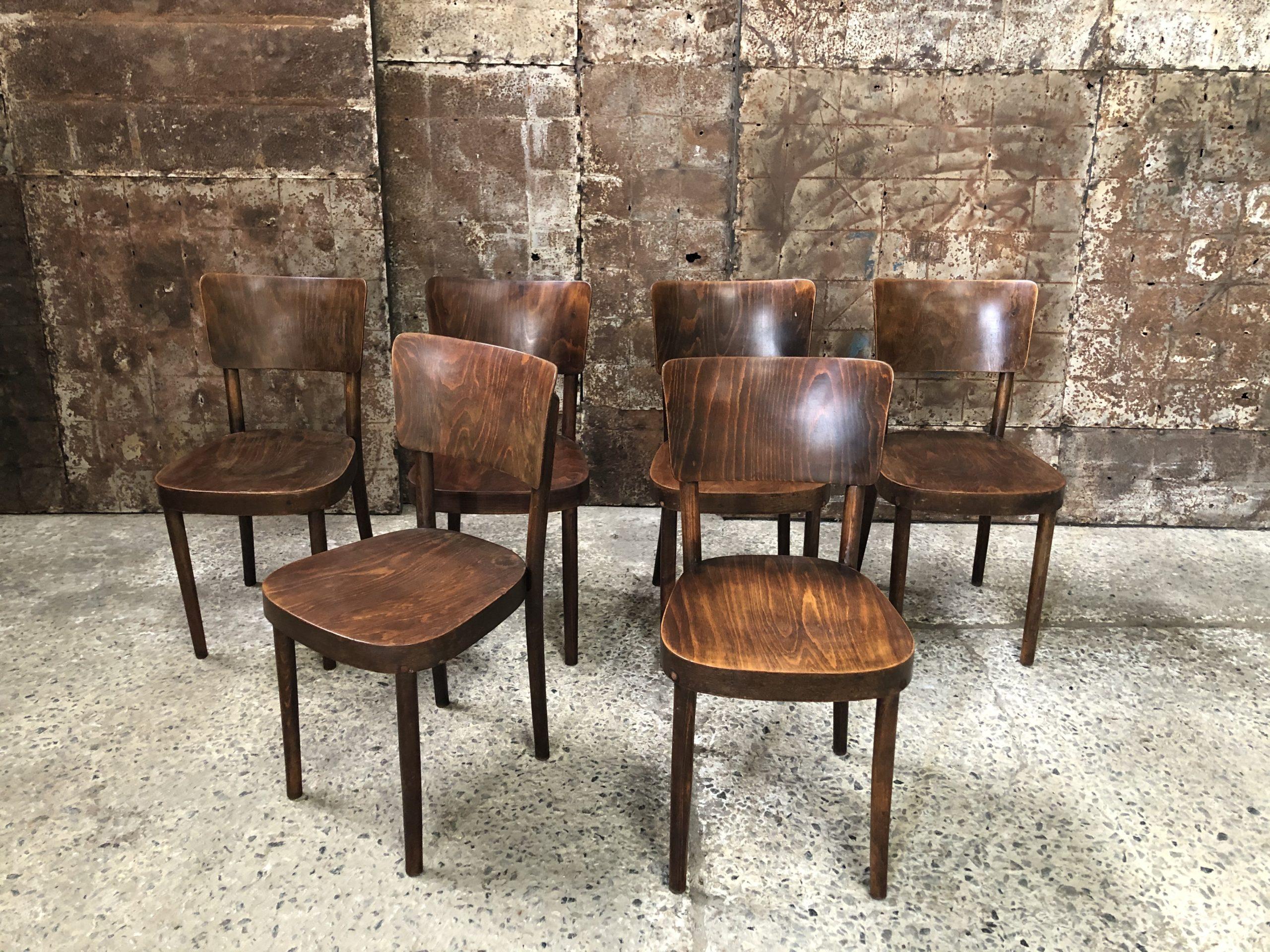 Ensemble de 6 chaises Thonet