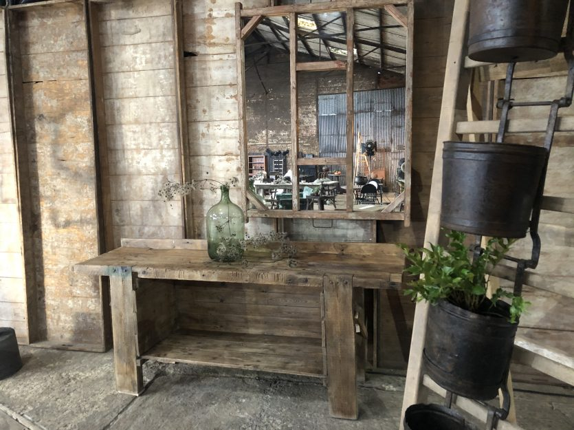clear wooden working bench