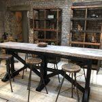 TABLE HAUTE DE BAR - TABLE MANGE DEBOUT 6 PERSONNES EN BOIS
