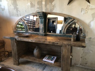 imposte - miroir en bois