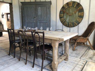 TABLE DE FERME CHÊNE CLAIR