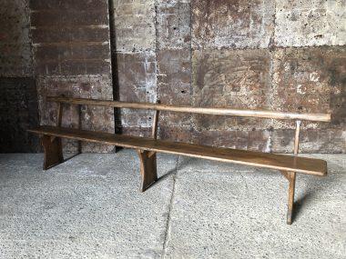 Ancien grand banc bois