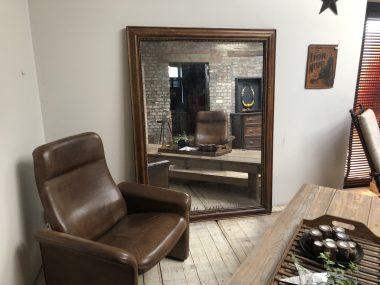 Ancien miroir Louis-Philippe au mercure